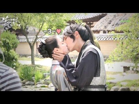 [ENGSUB] Kiss scene - Behind the scene Moon Lovers Ep 14 (달의연인 메이킹-은애한다 키스신 비하인드 혼자 봐야하는 영상)