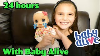 24 Hours With Baby Alive! Mom For A Day Challenge #freeproduct