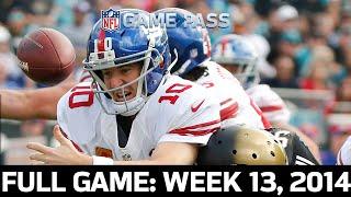 A Second-Half Comeback! New York Giants vs. Jacksonville Jaguars Week 13, 2014 Full Game