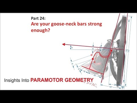 Paramotor geometry part 24: BROKEN bolt? Are your goose-neck bars strong enough?