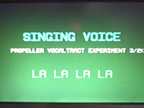 ROBOTIC SINGING VOICE & KARAOKE KODE on Parallax Propeller