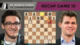 Carlsen vs Caruana (Game 10 Analysis)   World Chess Championship 2018