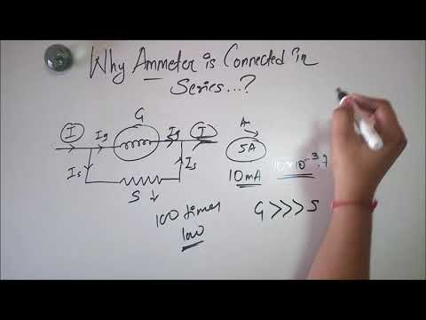 Why Ammeter is connected in series & Voltmeter in parallel..??