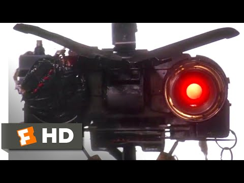 Short Circuit 2 (1988) - Bad Robot Scene (8/10) | Movieclips
