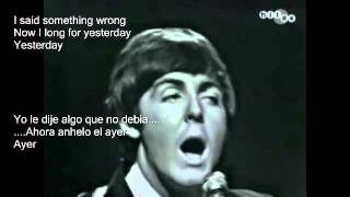 The Beatles   Yesterday Live 1965  Sub EspañolEdited