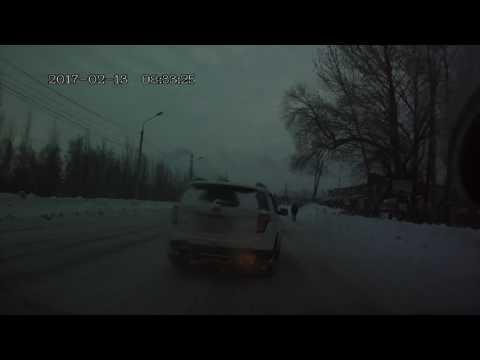 Последствие ДТП. Омск. 22 Партсъезда 13.02.2017