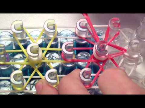 Instrukcja po polsku jak zrobić bransoletkę z gumek - wzór starburst - Rainbow Loom