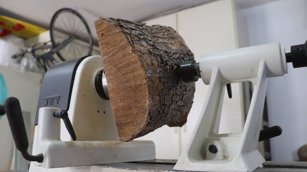 Wood Turning a Log: One Tool Challenge