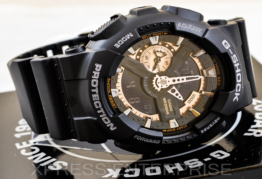 96a70d92e01 Casio GSHOCK Rose Gold GA110RG-1A REVIEW