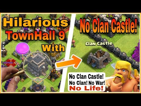 TownHall 9 Player Surviving Alone | NO CLAN CASTLE! NO WARS! NO LIFE! R.I.P😂 | clash of clans hindi