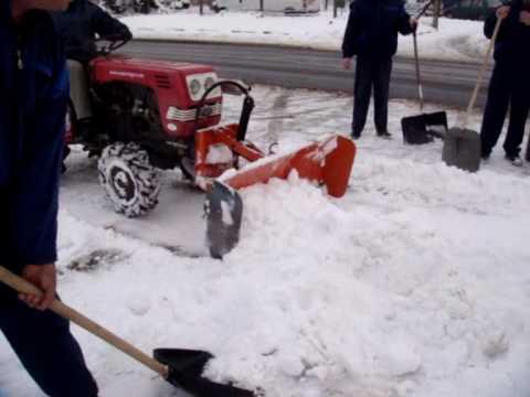 Hóeltakarítás, eladó Shibaura SU1341 és Komondor STL-125 tolólap / Snow plow, blade, snow cleaning
