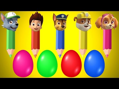 Thumbnail: Surprise Eggs Pencil Paw Patrol Finger Family Colors Learn and More