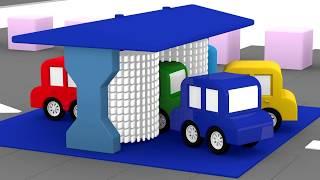 Lehrreicher Zeichentrickfilm - Die 4 kleinen Autos - Warum hilft das grüne Auto nicht beim Putzen?