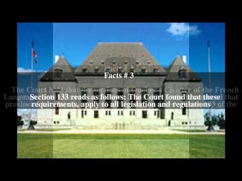 Quebec (AG) v Blaikie (No 1) Top # 6 Facts