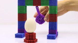 EXPERIMENT: MAGNET - Magnetic Balls VS Monster Magnets in Stop Motion