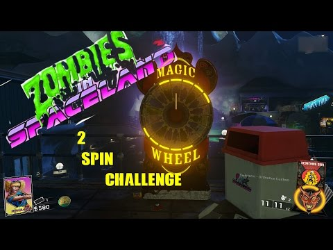 Two Spin Magic Wheel Challenge Part 2 (Zombies In Spaceland)