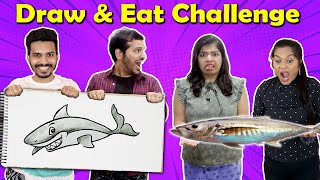 Draw And Eat Fun Food Challenge |Funny Food Challenge | Hungry Birds