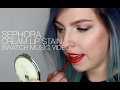 Sephora Cream Lip Stain Swatch Music Video