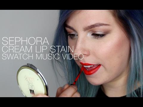 Sephora Cream Lip Stain Swatch Music Video