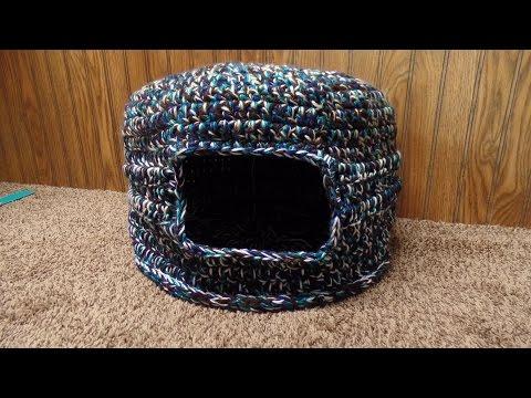 CROCHET (How to #Crochet) Scrap #Yarn (CAT BED HOUSE) #TUTORIAL #289 supersaver