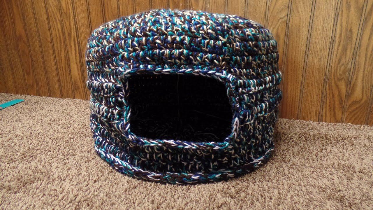 Crochet How To Crochet Scrap Yarn Cat Bed House