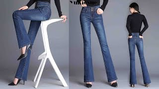 High waist skinny stretch denim Jeans for women trosuers Review | Best Jeans For Women Fashion