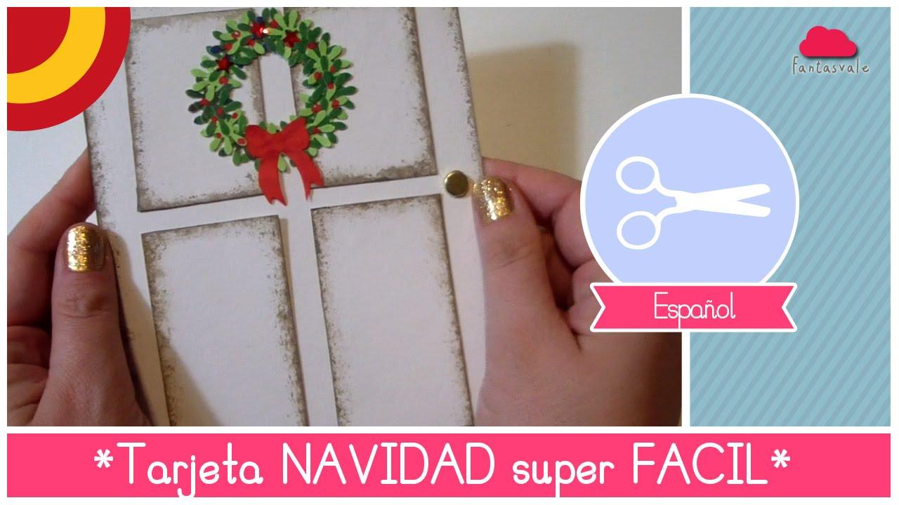 manualidad de navidad como hacer una tarjeta de navidad diy hermosa y super facil youtube