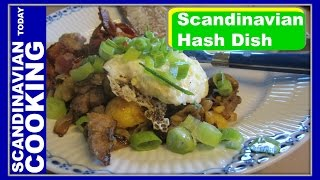 Biksemad Or Pyttipanna  A Scandinavian Hash Dish Made From Leftovers With A Fried Egg On Top