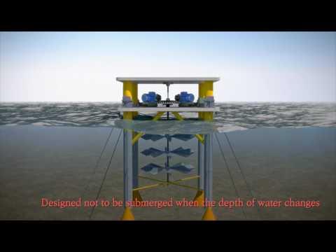 Marine underwater tide generator