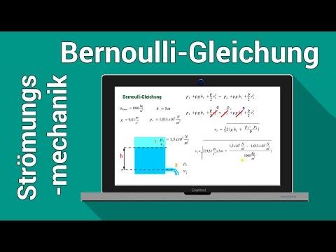 Bernoulli Gleichung | Torricelli Gleichung |Strömungsmechanik Hydrodynamik | Physik