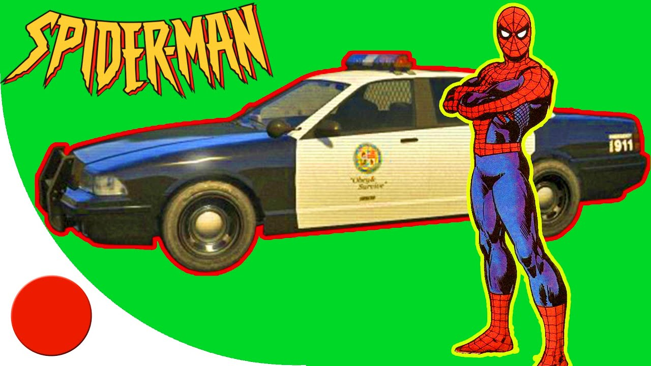 SPIDERMAN CARTOON: Spiderman Police Car Nursery Rhymes Songs for Children [#1]