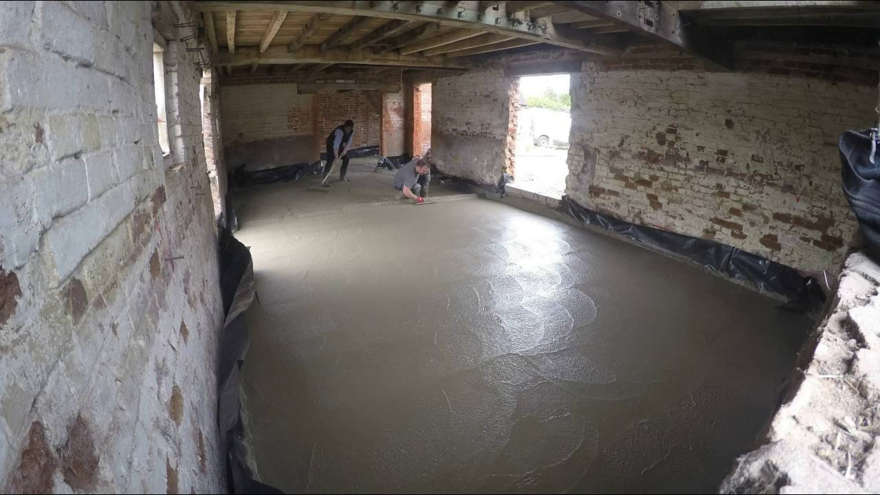 laying a concrete floor in a barn conversion  YouTube