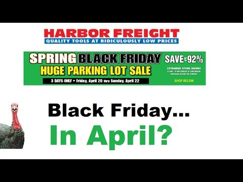 Harbor Freights Spring Black Friday Parking Lot Sale!