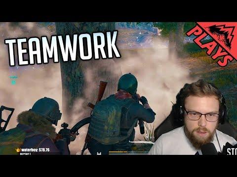 TEAMWORK DREAM - PlayerUnknown's Battlegrounds Gameplay # 93 (custom server PUBG squads)