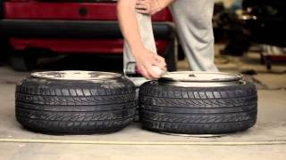 How to stretch a tire... and how you don't. thumbnail