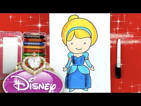Как нарисовать ЗОЛУШКУ принцесса Диснея