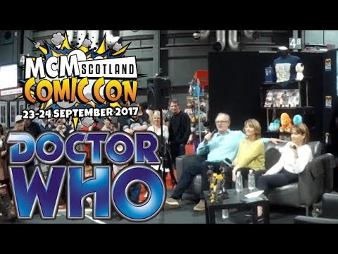 Peter Davison  Dr Who @Comic Con - Glasgow with  Sarah Sutton and Janet Fielding