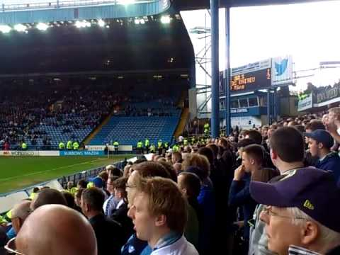 Leeds fans at Hillsborough glory glory Leeds United