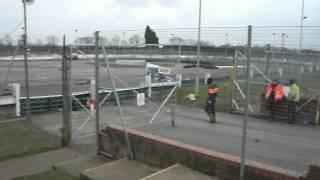 www.PickupTruckRacing.com driver Lee Rogers #69 driving a V8 Hotstox at Northampton Raceway.