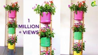 Reciclando Garrafas Plásticas e Fazendo Lindos Vasos Para Plantas