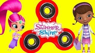 Shimmer and Shine Fidget Spinner Game with Doc McStuffins, Paw Patrol Surprise Toys | Ellie Sparkles