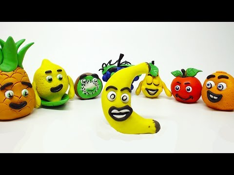 Learn Vitamins and Benefits with Play Doh Healthy Fruits Kids Stop Motion Videos