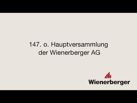 Wienerberger AG, 147. o. Hauptversammlung