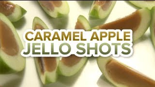 Caramel Apple Jello Shots - With Real Apples