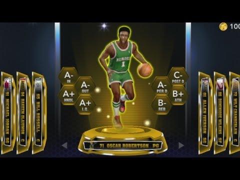 NBA 2k14 MyTeam Oscar Robertson Player Review! The Big O