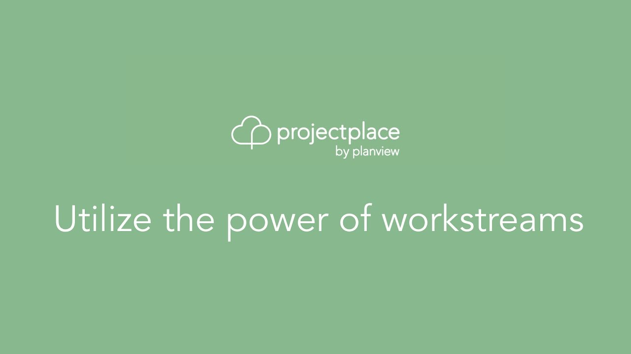 Utilize the power of workstreams. This video explains how collaborative workstreams are a powerful and effective way to plan and execute a project using the unique integration between the pla.... Youtube video for project managers.