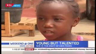 8 year old girl with amazing gymnastic talent