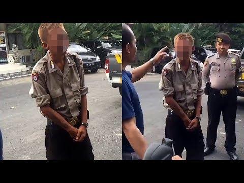 Berkeliaran di Lapangan, Begini Tingkah Polisi Gadungan Berambut Pirang saat Diinterogasi Petugas