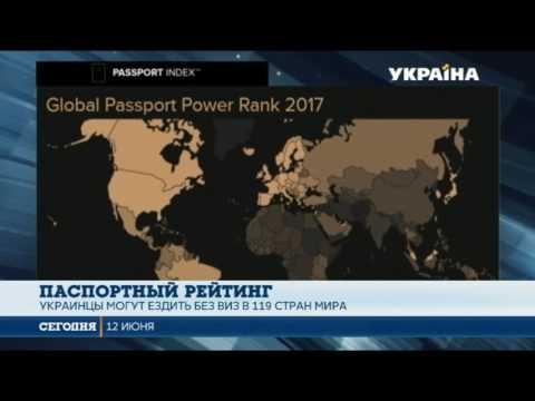 Загранпаспорт Украины поднялся в мировом рейтинге