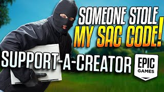 Someone IMPERSONATED My Support-A-Creator Code...
